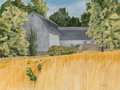 Fine Art - Work on Paper, George Grammer (American, 1928-2019). Cokesbury Barn, New Jersey. Watercolor on paper. 18 x 24 inches (45.7 x 61.0 cm) (...