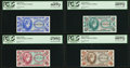 Complete Fractional Set Series 651 5¢; 10¢; 25¢; 50¢ PCGS Gem New 66PPQ; Superb Gem New 67PPQ; Super...