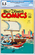 Golden Age (1938-1955):Cartoon Character, Walt Disney's Comics and Stories #9 (Dell, 1941) CGC FN- 5.5 Off-white pages....