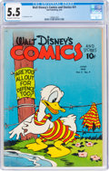 Golden Age (1938-1955):Cartoon Character, Walt Disney's Comics and Stories #21 (Dell, 1942) CGC FN- 5.5 Off-white to white pages....