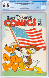 Walt Disney's Comics and Stories #22 (Dell, 1942) CGC FN+ 6.5 Off-white to white pages