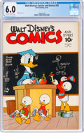 Golden Age (1938-1955):Cartoon Character, Walt Disney's Comics and Stories #25 (Dell, 1942) CGC FN 6.0 Off-white to white pages....