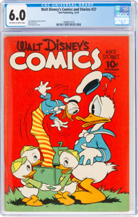 Walt Disney's Comics and Stories #27 (Dell, 1942) CGC FN 6.0 Off-white to white pages