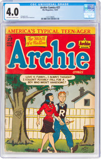 Archie Comics #27 (Archie, 1947) CGC VG 4.0 Off-white to white pages
