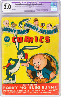 Looney Tunes and Merrie Melodies Comics #1 (Dell, 1941) CGC Apparent GD 2.0 Slight (C-1) Off-white to white pages
