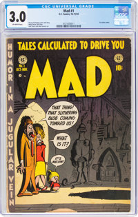 MAD #1 (EC, 1952) CGC GD/VG 3.0 Off-white pages