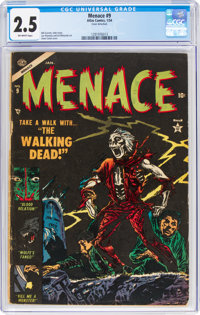 Menace #9 (Atlas, 1954) CGC GD+ 2.5 Off-white pages