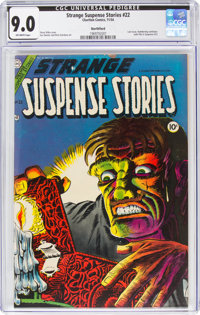 Strange Suspense Stories #22 Northford Pedigree (Charlton, 1954) CGC VF/NM 9.0 Off-white pages