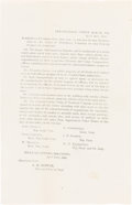 Military & Patriotic:Civil War, Appomattox Court House Terms of Surrender: Rare In-the-Field Printed Announcement. . ...