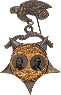 "Grant & Colfax: Small ""Porthole"" Jugate on Star Pendant in Choice Condition"