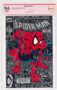 Spider-Man #1 Silver Edition - Verified Signature (Marvel, 1990) CBCS NM+ 9.6 White pages
