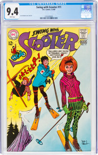 Swing with Scooter #11 (DC, 1968) CGC NM 9.4 White pages