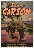 Golden Age (1938-1955):Western, Sunset Carson #1 (Charlton, 1951) Condition: FN+....