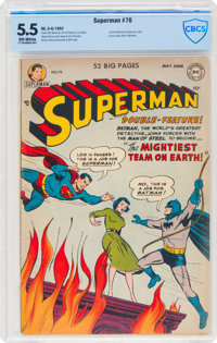 Superman #76 (DC, 1952) CBCS FN- 5.5 Off-white pages