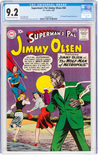 Superman's Pal Jimmy Olsen #44 (DC, 1960) CGC NM- 9.2 Off-white to white pages