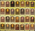 Autographs:Post Cards, Signed Hall of Fame Plaque Postcard Lot of 62....