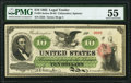 Large Size:Legal Tender Notes, Fr. 93 $10 1862 Legal Tender PMG About Uncirculated 55.. ...