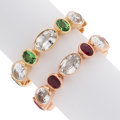 Estate Jewelry:Rings, Ruby, Tsavorite, Colorless Sapphire, Gold Rings. ... (Total: 2 Items)