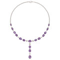 Estate Jewelry:Necklaces, Amethyst, Diamond, White Gold Necklace. ...