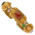 Estate Jewelry:Bracelets, Multi-Stone, Gold Bracelet . ...