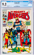 Silver Age (1956-1969):Superhero, The Avengers #68 (Marvel, 1969) CGC NM- 9.2 Off-white to white pages....