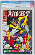 Silver Age (1956-1969):Superhero, The Avengers #51 (Marvel, 1968) CGC NM- 9.2 Off-white pages....