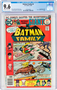Batman Family #6 (DC, 1976) CGC NM+ 9.6 Off-white to white pages
