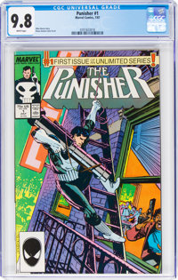 The Punisher #1 (Marvel, 1987) CGC NM/MT 9.8 White pages