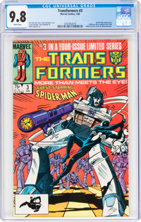 Transformers #3 (Marvel, 1985) CGC NM/MT 9.8 White pages