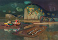 Fine Art - Painting, American, Millard Sheets (American, 1907-1989). Passing Storm, Bodega, 1984. Oil on canvas. 29 x 40 inches (73.7 x 101.6 cm). Sign...