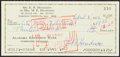Autographs:Checks, 1972 Edwin Henderson Signed Check - Father of Black Basketball!...