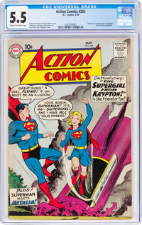 Action Comics #252 (DC, 1959) CGC FN- 5.5 Cream to off-white pages