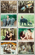 """Movie Posters:Adventure, Tarzan Finds a Son (MGM, R-1940s). Very Fine+. International Lobby Card Set of 8 (11"""" X 14""""). Adventure.. ... (Total: 8 Items)"""