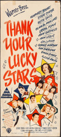 """Movie Posters:Musical, Thank Your Lucky Stars (Warner Bros., 1943). Folded, Fine-. Australian Daybill (13.25"""" X 30""""). Musical.. ..."""