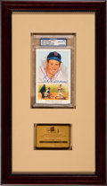 Baseball Collectibles:Others, 1960's Ted Williams Baseball Hall of Fame Lifetime Pass with Signed Perez Steele Card. ...