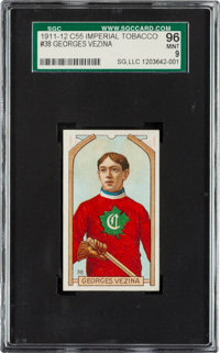 1911 C55 Georges Vezina #38 SGC 96 Mint 9 - The Finest Example Known In the Hobby!