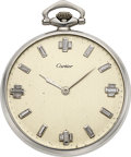 Timepieces:Pocket (post 1900), Cartier, Platinum Diamond Dial Watch, European Watch & Clock Co., circa 1910. ...
