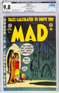 Golden Age (1938-1955):Humor, MAD #1 Gaines File Pedigree (EC, 1952) CGC NM/MT 9.8 White pages....