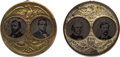 "Political:Ferrotypes / Photo Badges (pre-1896), Grant & Colfax and Seymour & Blair: Pair of Large ""Porthole"" Jugates.. ... (Total: 2 Items)"