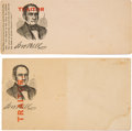 "Political:Small Miscellaneous (pre-1896), Pair John Bell ""Traitor"" Campaign Covers.... (Total: 2 Items)"