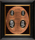 Political:3D & Other Display (pre-1896), Grant & Colfax: High Relief Jugate Plaque....