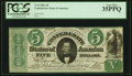 Confederate Notes:1861 Issues, T33 $5 1861 PF-1 Cr. 250Ba PCGS Very Fine 35PPQ, CC.. ...