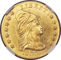Early Quarter Eagles, 1807 $2 1/2 BD-1, R.3, MS61 NGC....