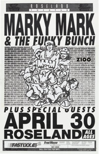 Mark Wahlberg Marky Mark and the Funky Bunch Roseland Concert Poster Mock-Up/Original Art (circa early 1990s)