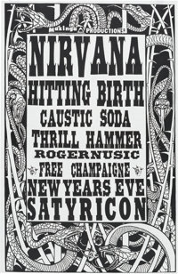 Nirvana Satyricon New Year's Eve Concert Poster (1990)