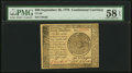 Continental Currency September 26, 1778 $60 PMG Choice About Unc 58 EPQ