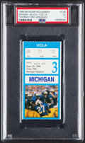 Football Collectibles:Tickets, 1996 Michigan vs. UCLA Ticket Stub - Tom Brady's Collegiate Debut, PSA EX 5 (only 2 graded higher). ...