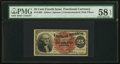 Fr. 1302 25¢ Fourth Issue PMG Choice About Unc 58 EPQ