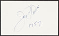 Autographs:Index Cards, 1957 Joe Louis Signed Index Card....