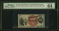 Fr. 1303 25¢ Fourth Issue PMG Choice Uncirculated 64 EPQ